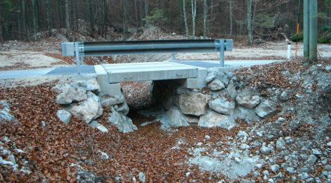Brücke Waldhütte, Fahrbahnplatte abnehmbar