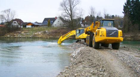 Enns Hochwasserschutz Eintiefung