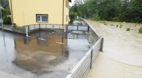 Steyr, Mobiler Hochwasserschutz Himmlitzer Au
