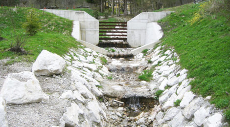 Kniewasserbach: Wildbachverbauung